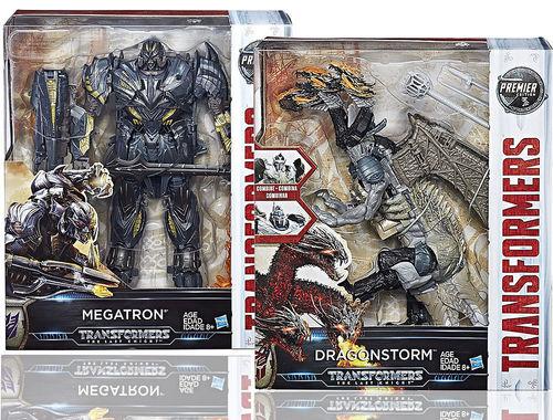 Transformers Last Knight Premier Leader Dragonstorm & Megatron Set NEW