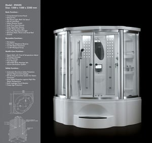 Steam Enclosure with Jacuzzi System