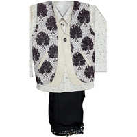 Kids Printed Flowers Waistcoat Suits