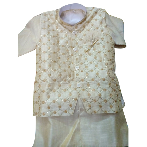 Boys Printed Cotton Kurta Pajama