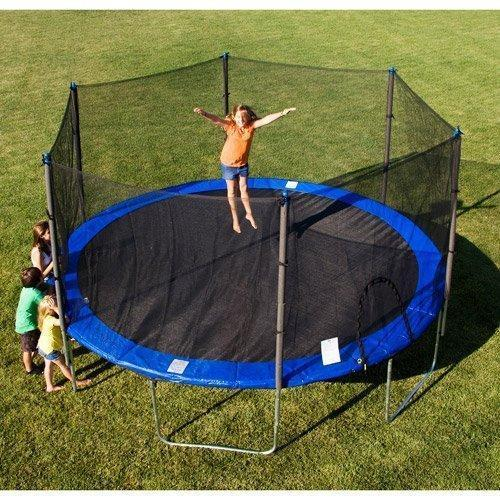 KD Trampoline with Enclosure net and Poles Safety Pad Jumping Mat