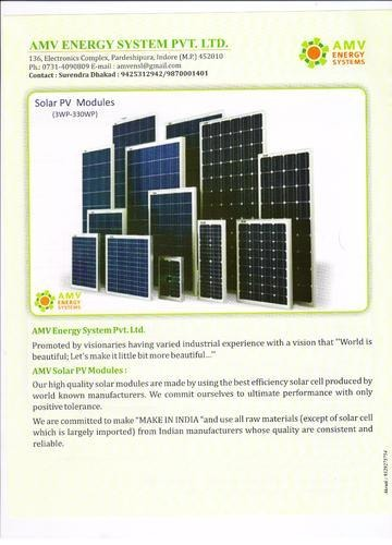 200 to 300W Solar Photovoltaic Panels