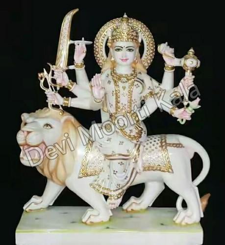 Marble Sarawali Durga Mata Statue