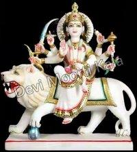 Durga Mata Statue White Marble