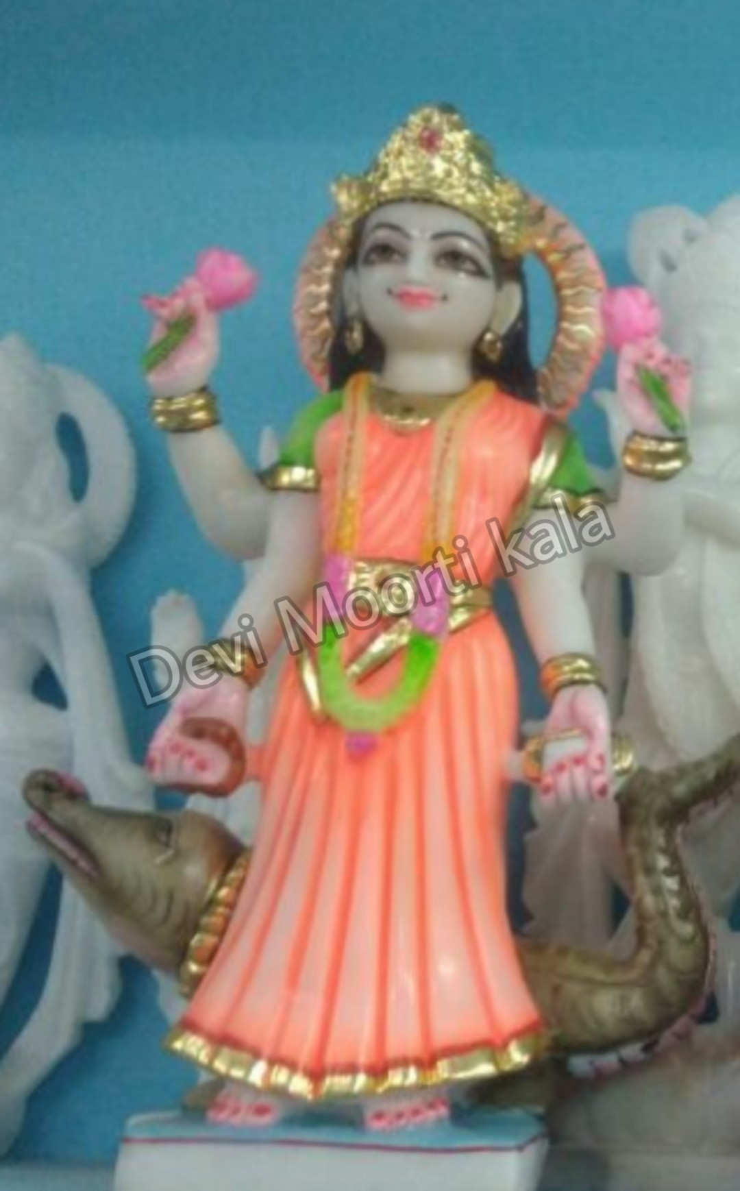 Ganga Mata Marble Moorti Statue