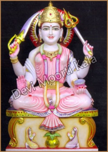 Santoshi Mata Marble Moorti Statue