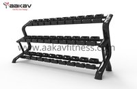 Dumbbell Rack (15 Pair)  X5 Aakav Fitness