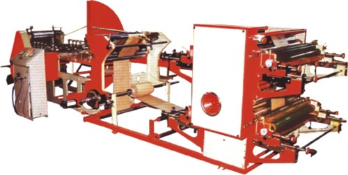 Paper bag making machine with printing