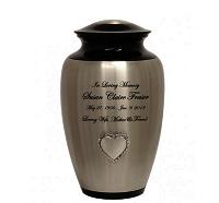 Heart of Roses Pewter Urn