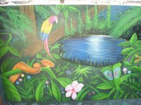 Interior Jungle Wall Painting