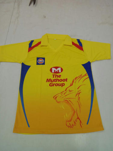 Chennai Super Kings 2018 IPL Jersey with All Logo