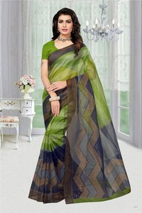 Printed Super Net Saree