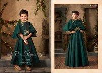 Fancy Designer Satin Gown