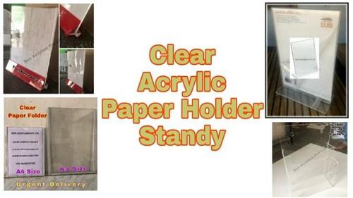 Wall Mount Acrylic Paper Display