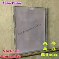 Wall Mount Acrylic Paper Display