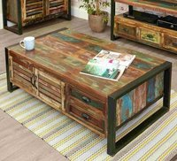 Reclaimed Coffee Table With Storage