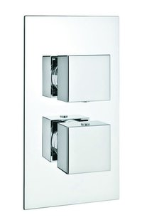 3 way Thermostatic Diverter with square Nob