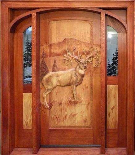Sagwan Carved Door