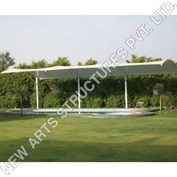 White Swimming Pool Shed