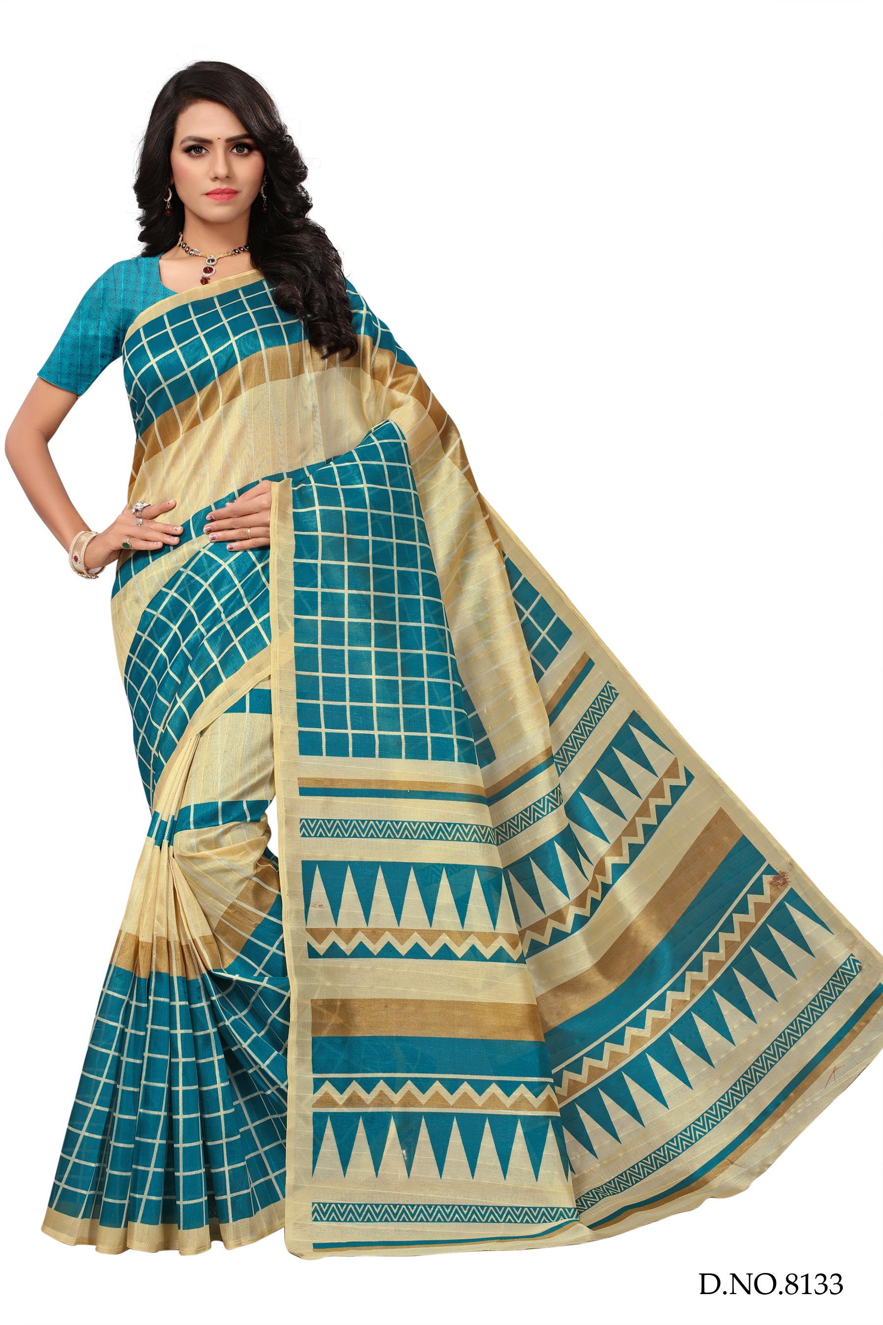 Bhagalpuri Fancy Pure Silk Sarees