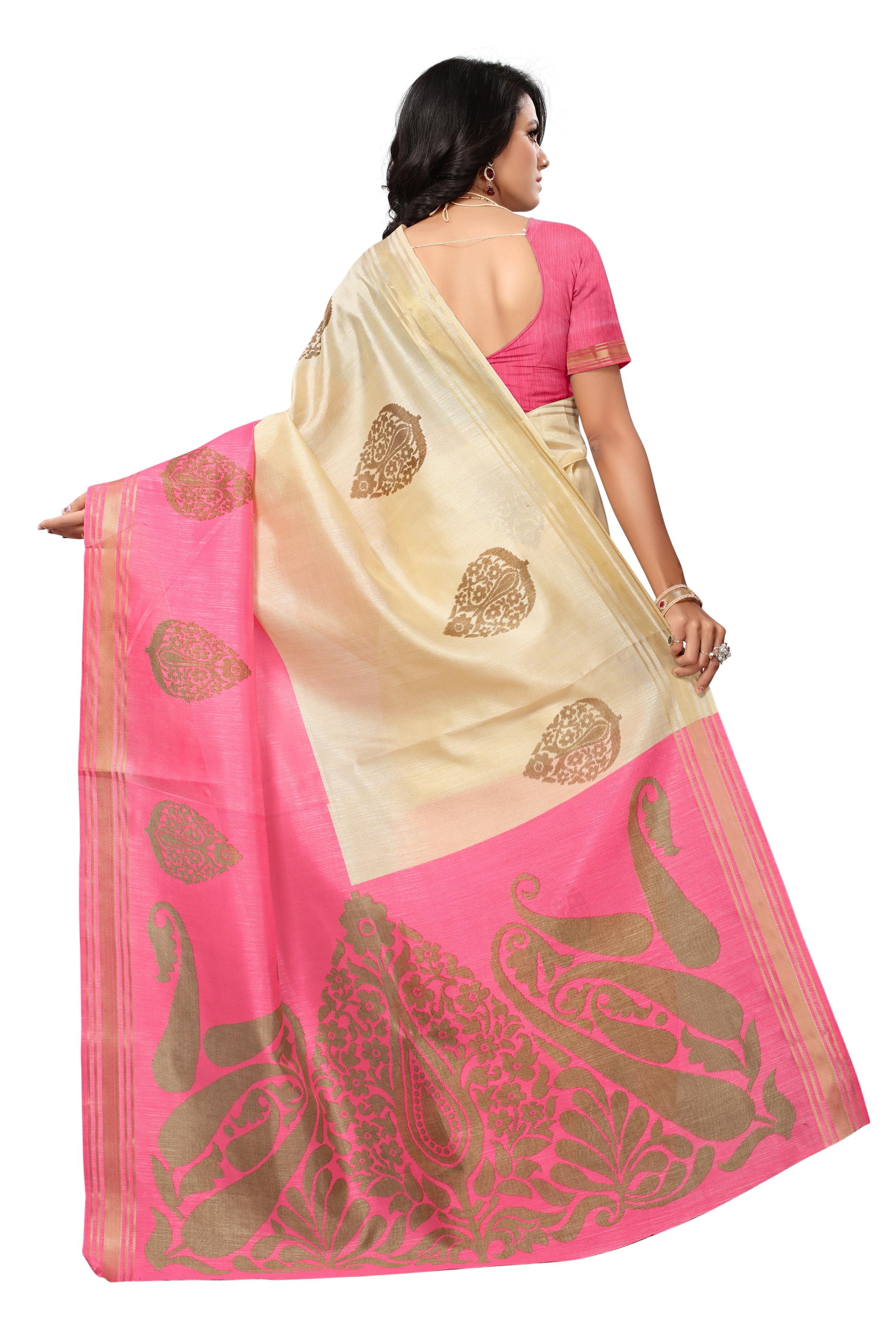 Bhagalpuri Designer Printed Sraees