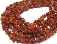 Natural Carnelian Irregular Chip Gravel Uncut Shape beads