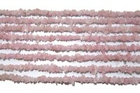 Natural Rose Quartz Irregular Chip Gravel Uncut Nugget Shape beads