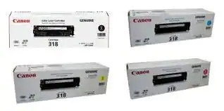 canon color toner cartridge (318)