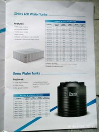 ISI Mark Sintex Water Tank