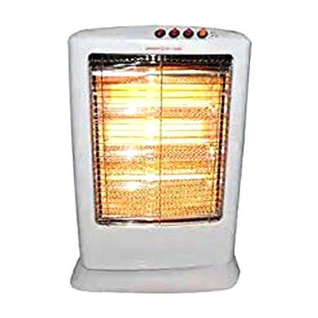Three Tube Halogen Heater