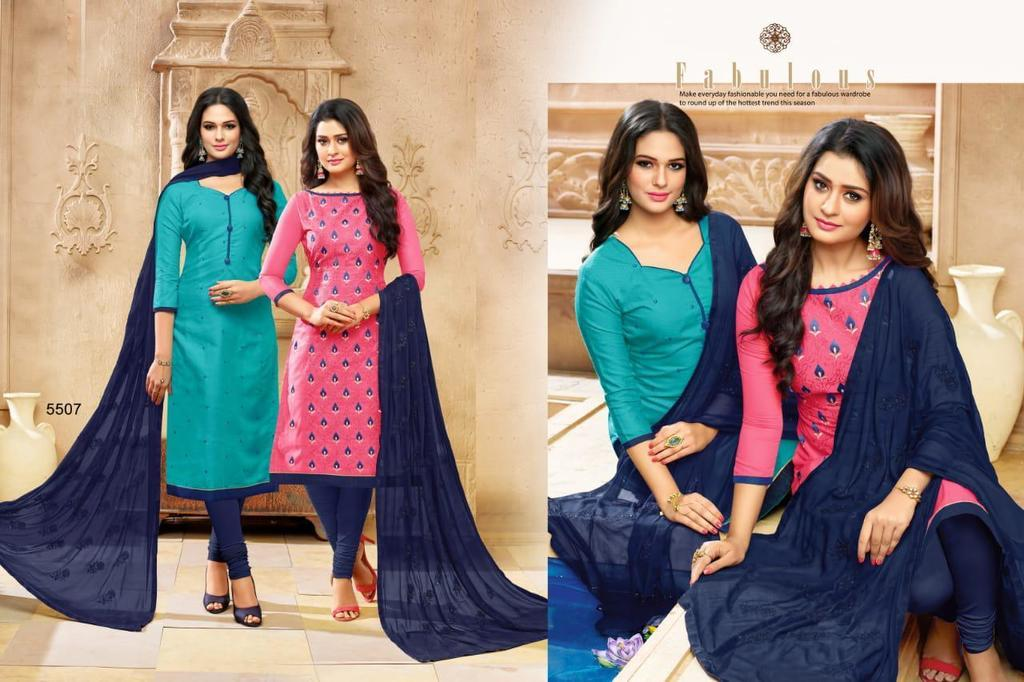 Pure Cotton Embroidery Suits