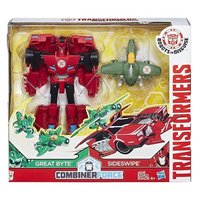TRANSFORMERS ROBOTS  COMBINER FORCE SIDESWIPE & GREAT BYTE