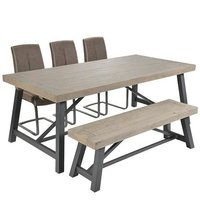 Rivoli Eight Seater Dining Table with Bench