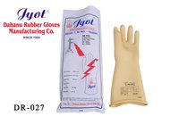 White Rubber Hand Gloves
