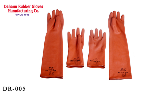 Industrial Rubber Hand Gloves Light Duty