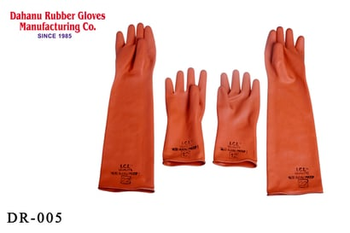 Industrial Rubber Hand Gloves Light Duty