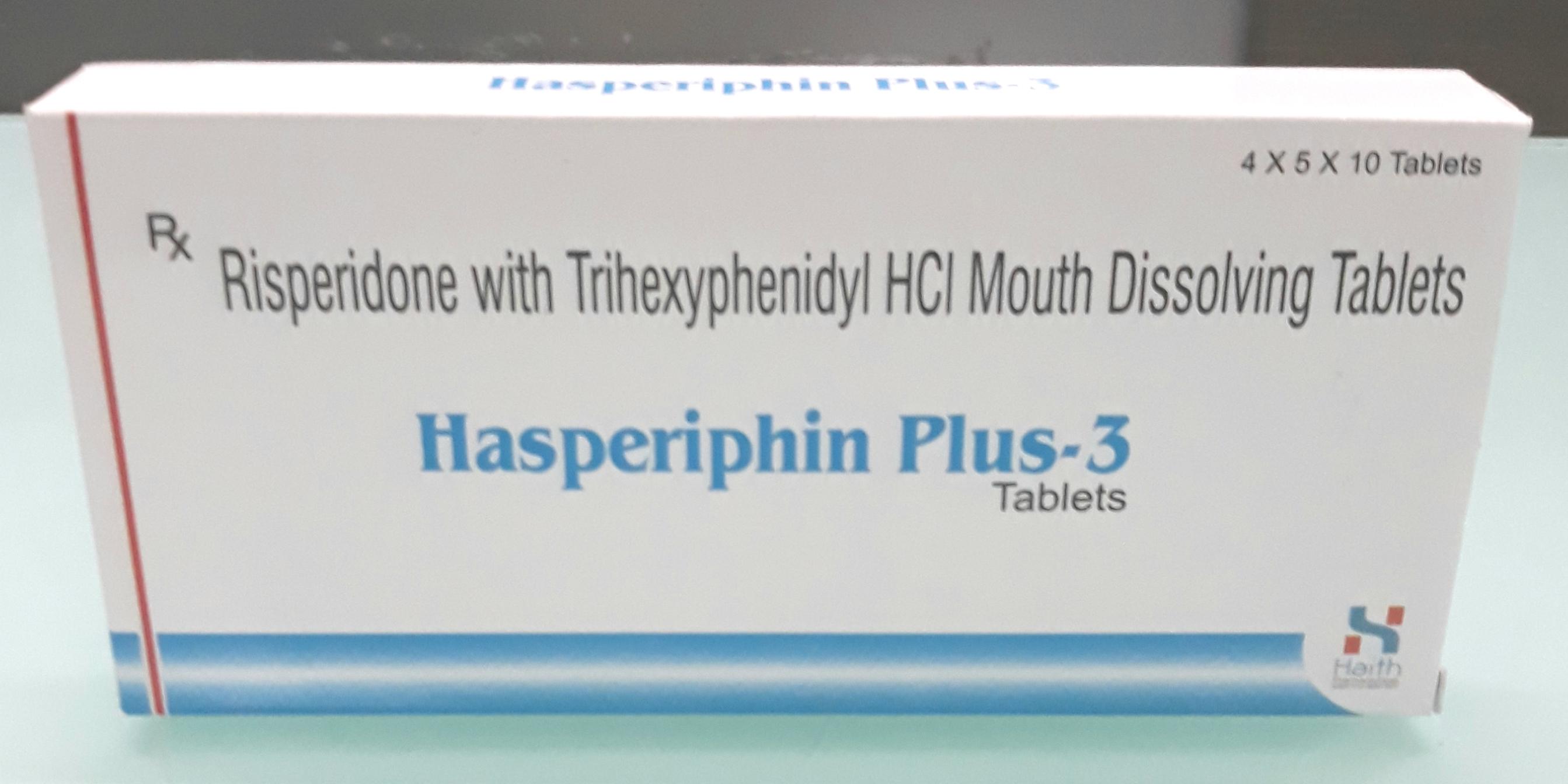 Risperidone Trihexyphenidyl Tablets
