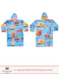 Supreme Printed PVC Boys Raincoat