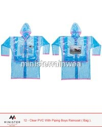Clear PVC Bag Raincoat