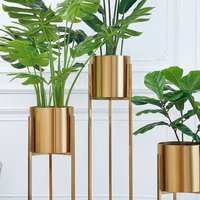 Iron Gold Finish Planter