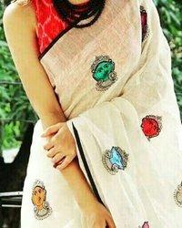 embroidery work handloom sarees