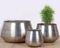 Brass Antique Hammered Planter / Iron Planter