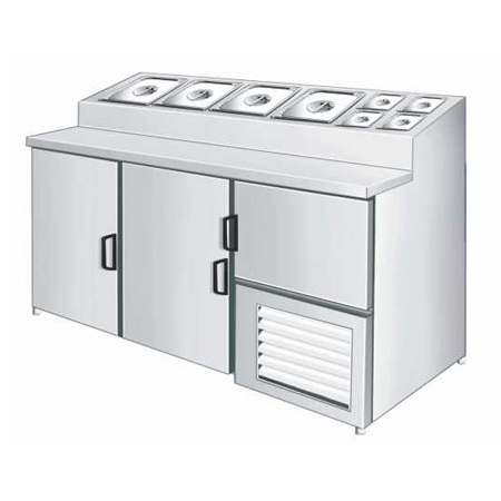 Three Door Counter Freezer