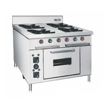Four Burner Commercial Gas Oven