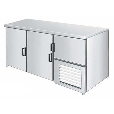 Stainless Steel Table Top Freezer
