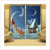 Santa Printed Curtains
