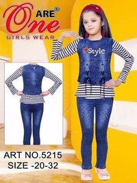 Girls Designer Pent Top