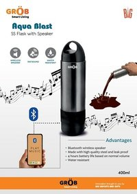 Aqua Blast SS Flask with speaker