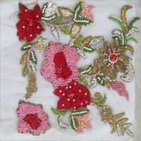 3D Thread Resham Embroidery Work