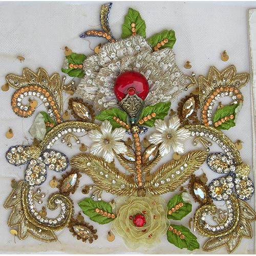 Moroccan Kaftan Embroidered Work
